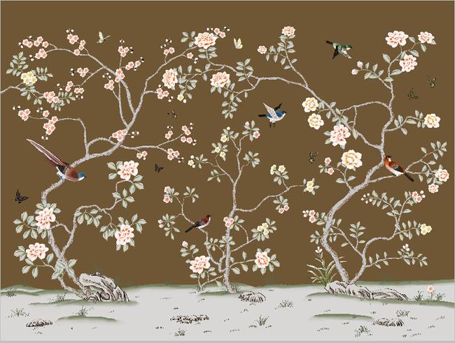 手绘花鸟图