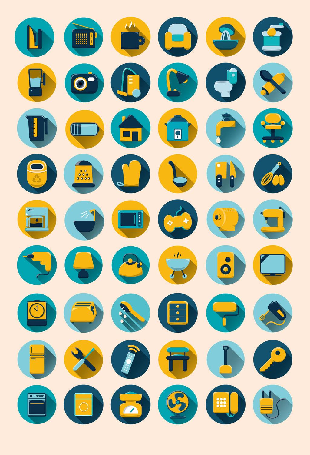 家居生活用品icon图标