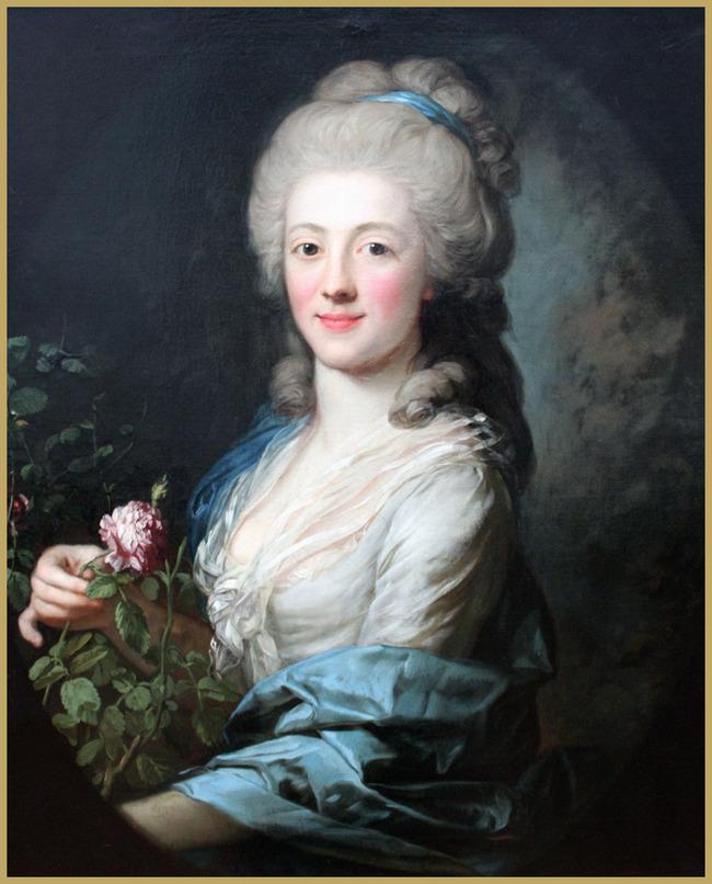 背景墙|装饰画 油画 人物油画 > 《格拉芙的肖像》洛可可风格油画  下