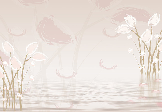 水中花朵电视背景墙壁画高清图片下载(图片编号)现代图片