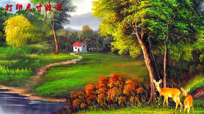 田园山水风景油画高清图片下载(图片编号13327714)