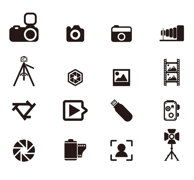 摄影相机元素图标