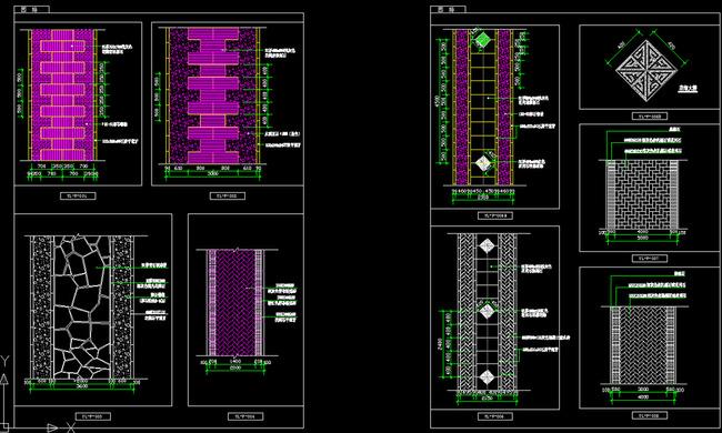 室内设计 cad图库 公园景观cad施工图 > 园林地面铺装cad图块