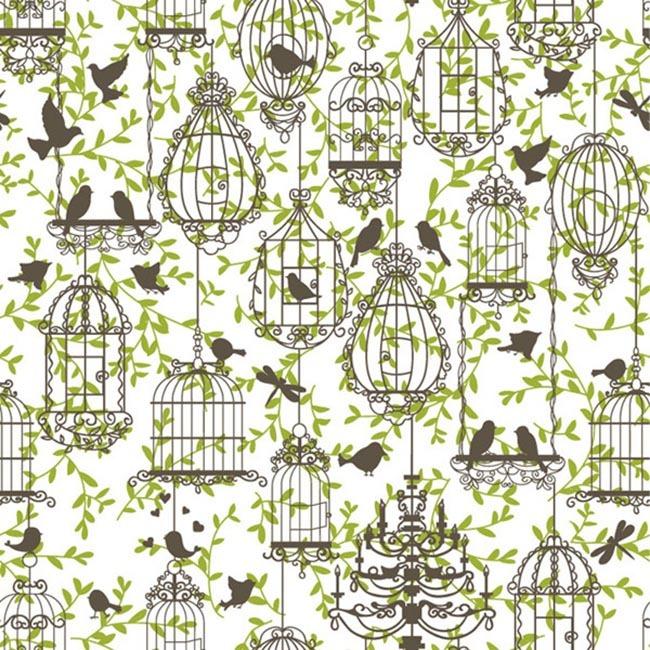 树枝 鸽子 鸟笼 剪影 eps 动物图案 动物花纹 动物背景 包装纸背景