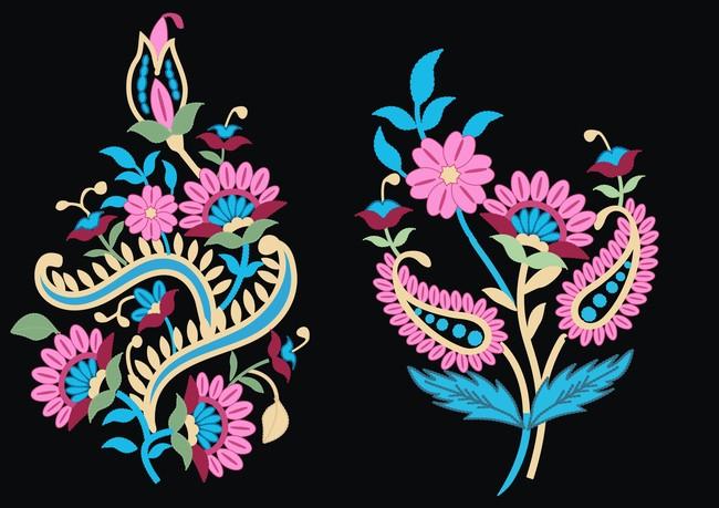 移门图案 花卉图案 刺绣图案图片
