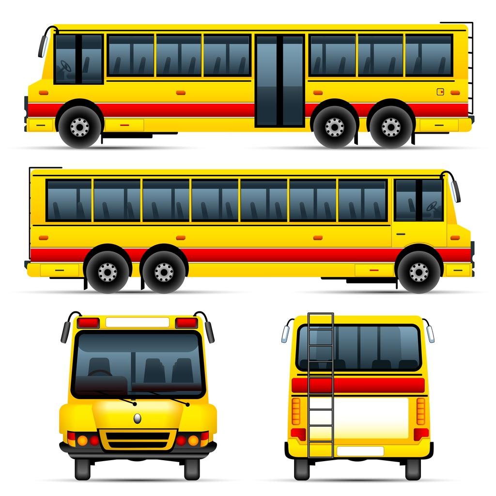 交通运输图标 矢量素材交通运输公交车卡车动车