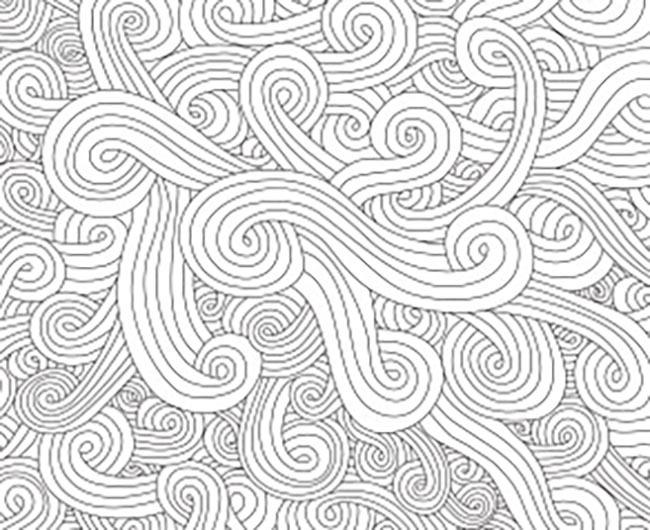 海浪黑白画手绘