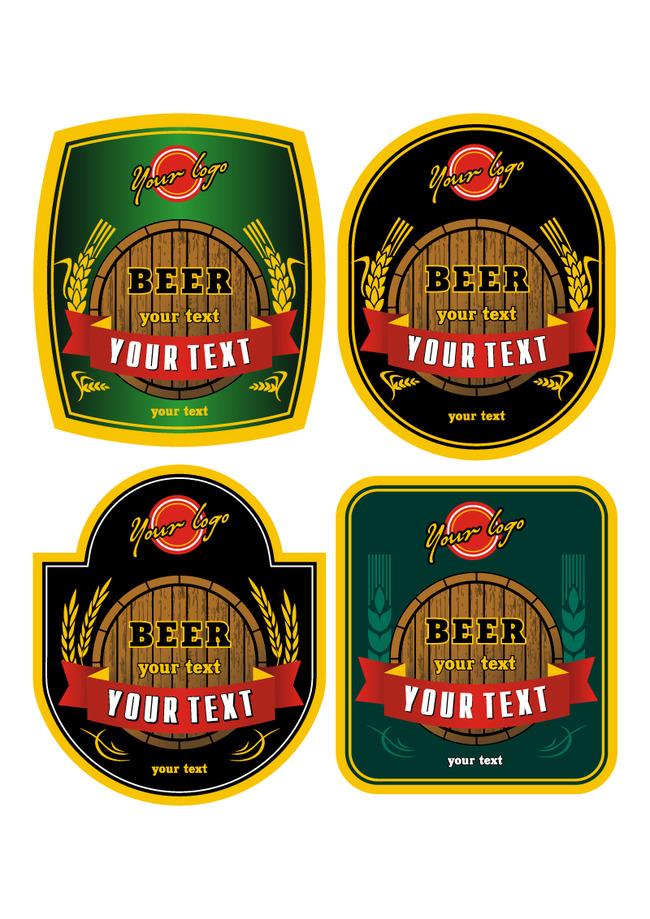 平面设计 其他 标签|吊牌模板 > 创意啤酒标贴  下一张> [版