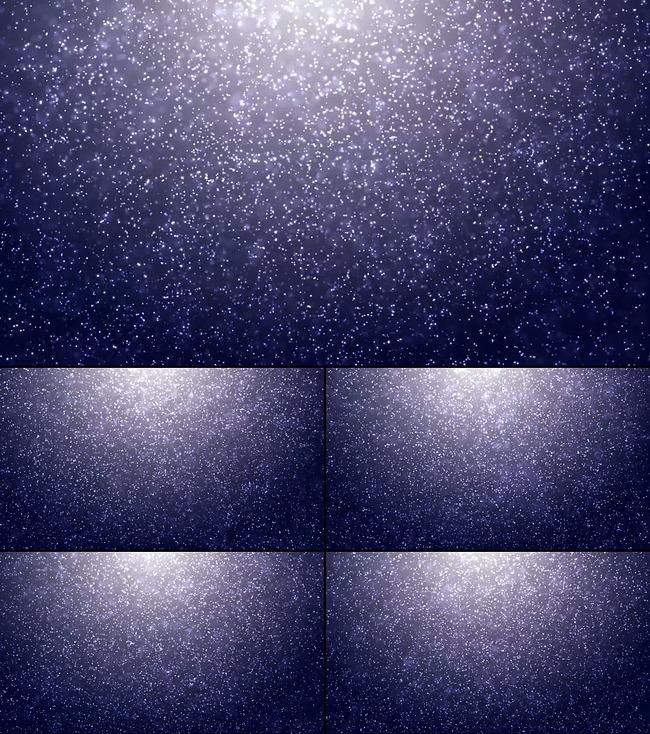 满天白色粒子飞絮梦幻飘雪高清视频模板下载(