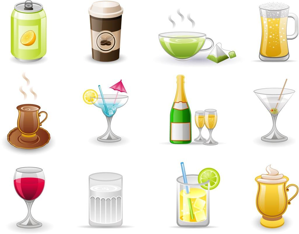 饮料酒水图标矢量图_ai格式文件