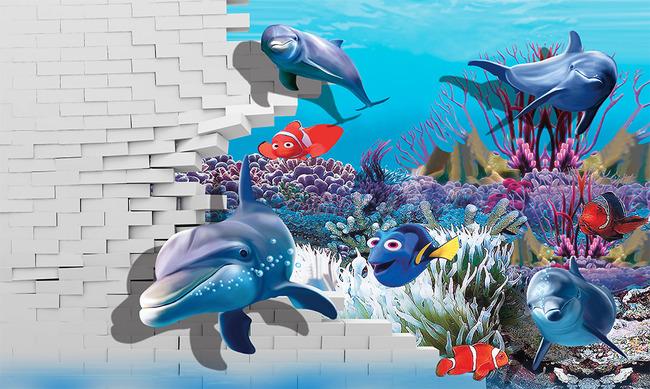 3d电视背景墙 > 海底世界