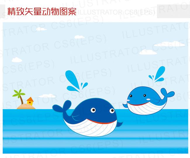 幼儿园绘画鲸鱼