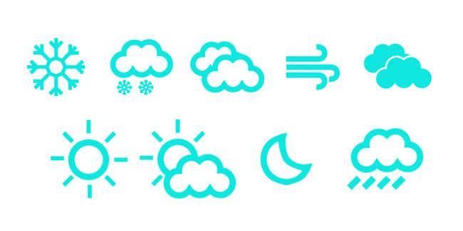 生活类 天气预报符号标识 模板下载 1