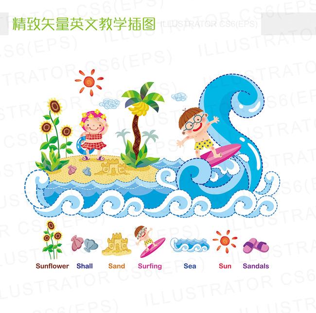 小报插图 插画六一儿童节教学数学英语 插图 卡通 小学生 中学生 字母图片