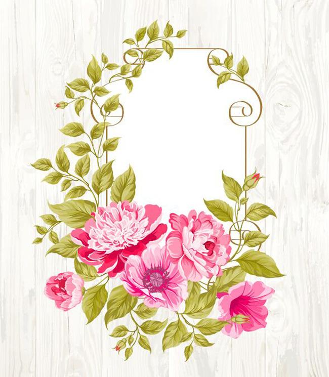 平面设计 花纹图案设计 花纹素材 > 手绘开放红色花朵花藤印花图案