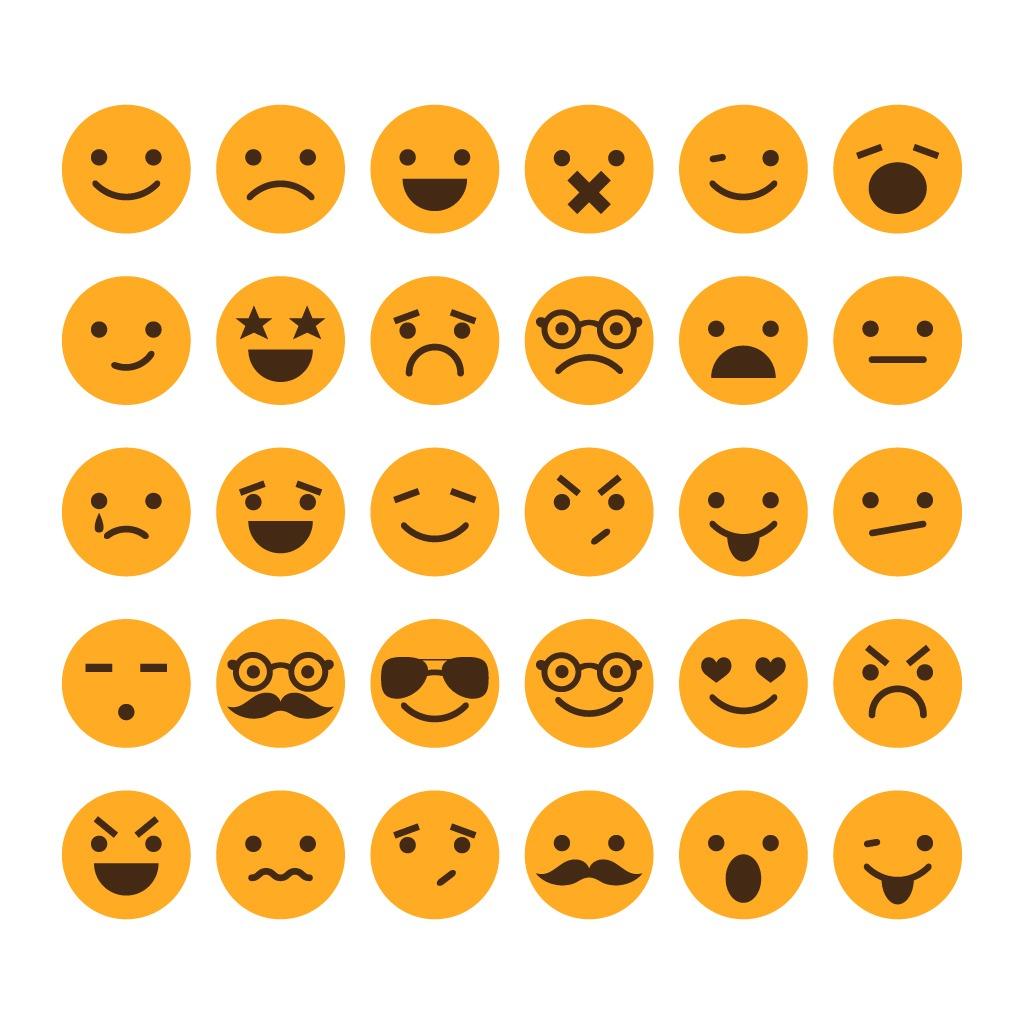 网页表情图标图片下载常用网页表情图标 表情图标 qq表情图标 微信图片