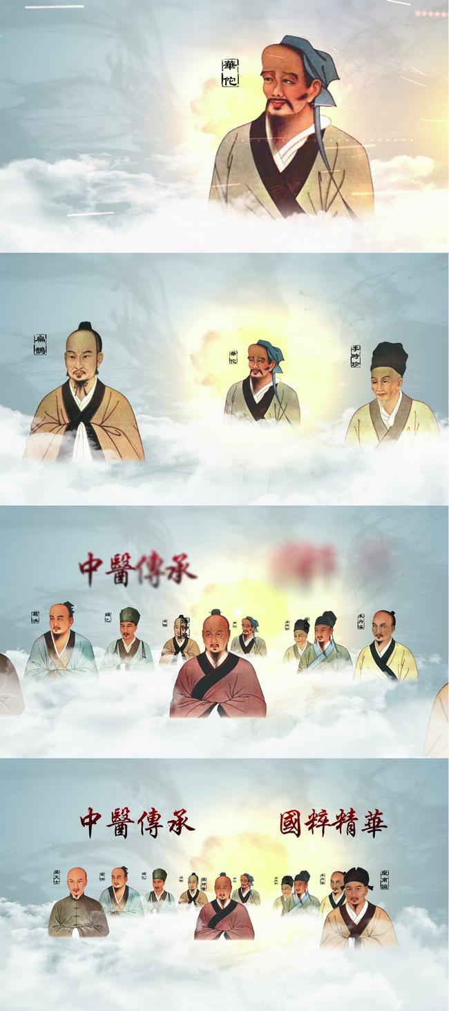 中国古代名医汇聚ae模板
