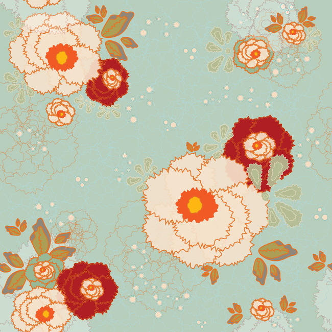t恤图案 时尚花朵 矢量花朵 玻璃花 移门图案 陶瓷花朵 陶瓷花纸