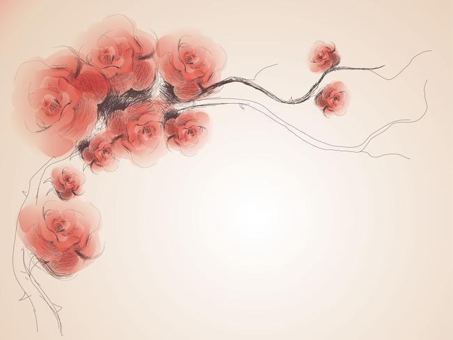 韩式手绘花纹图案