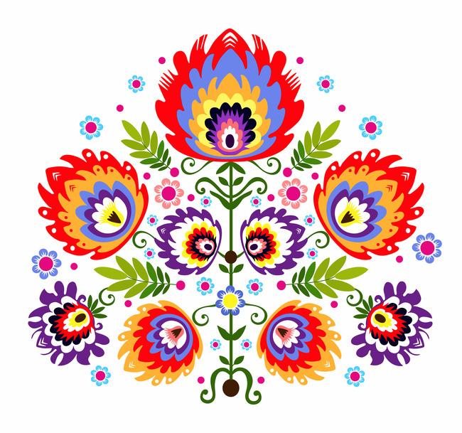 民族风花卉图案设计