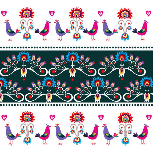 平面设计 花纹图案设计 其他图案 > 手绘民族风恩爱公鸡素材  下一张&