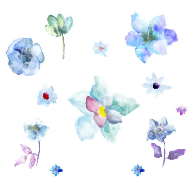 水彩手绘花卉图案设计