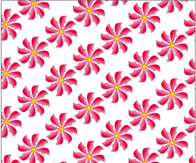 韩国花卉手绘花花纹设计