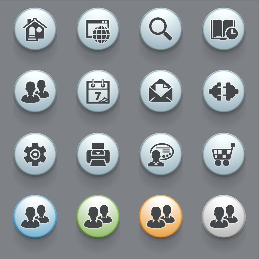 计算机图标 网页图标 手机app 界面设计 扁平化图标 日历 电话 纸飞机