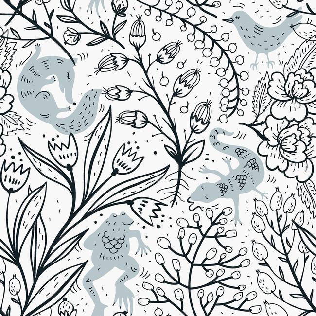 设计图案 手绘花卉花纹底纹移门图案