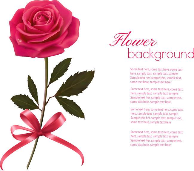 个性手绘玫瑰花图案设计