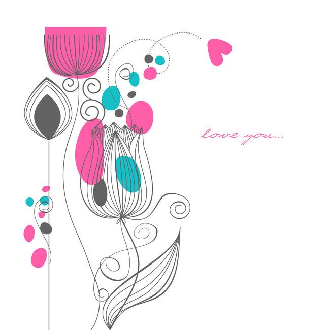 个性手绘花纹图案设计