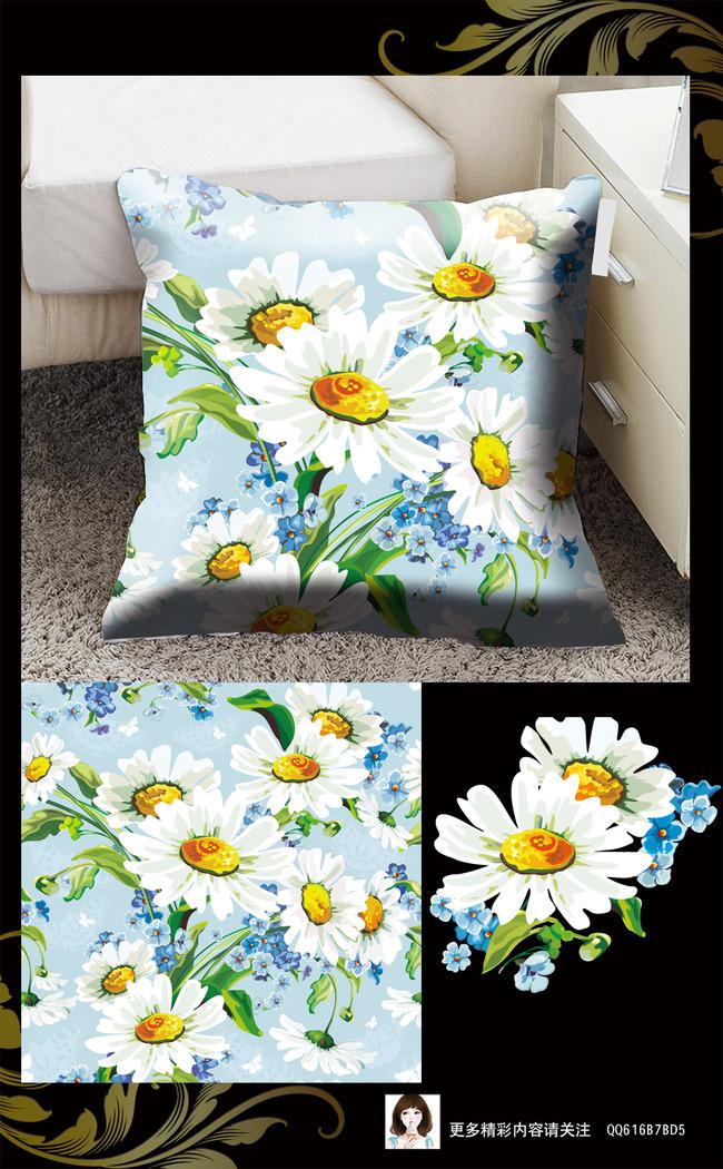 手绘花卉花纹底纹 移门图案 窗帘图案 丝巾图案 家纺图案 手绘花卉