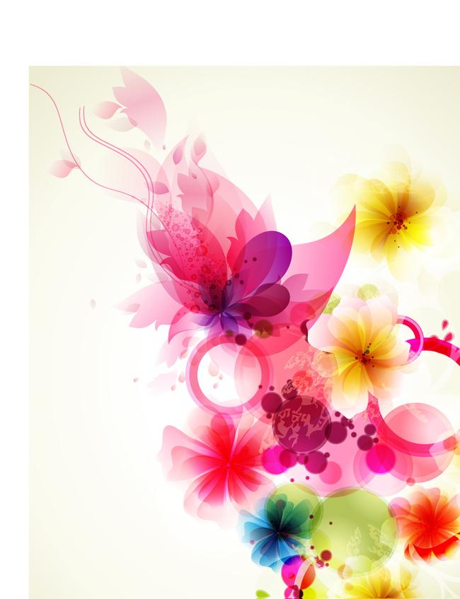eps矢量 手绘 插画 鲜花矢量素材 eps素材下载 韩国花卉 手绘花 花纹