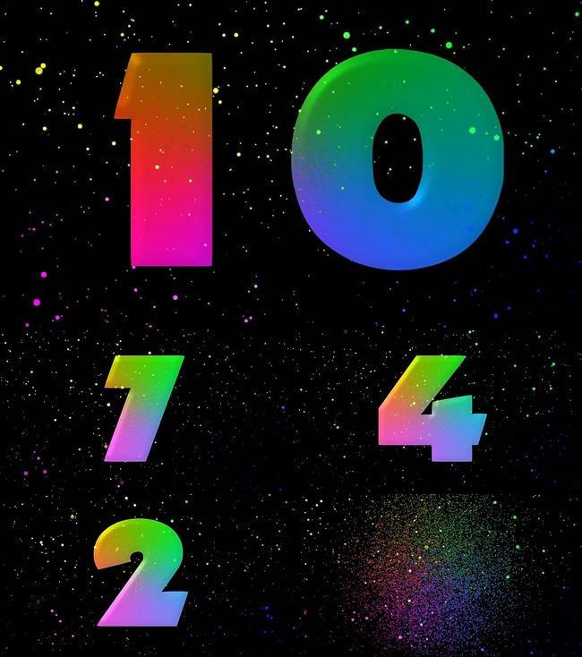 星空唯美五彩数字10秒倒计时视频