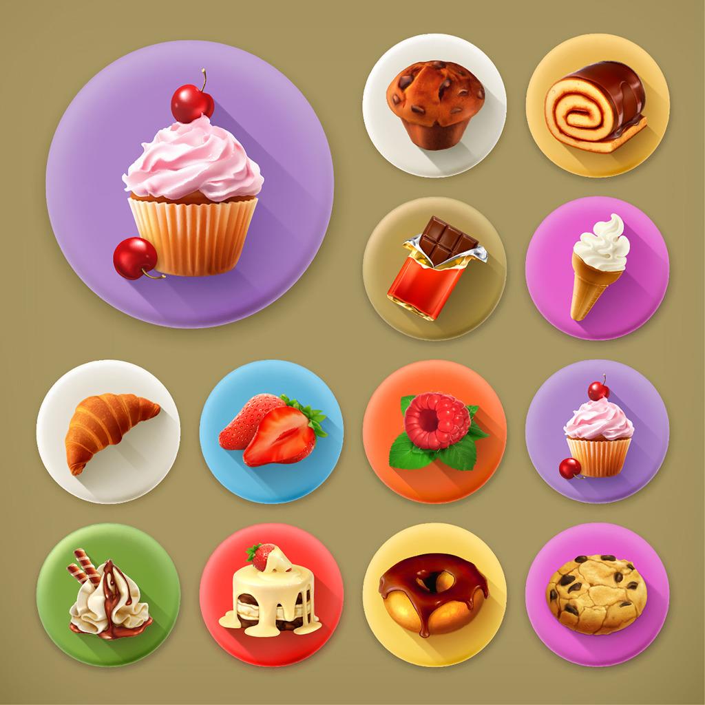 13款甜品图标模板下载(图片编号:13369418)_食物|饮料