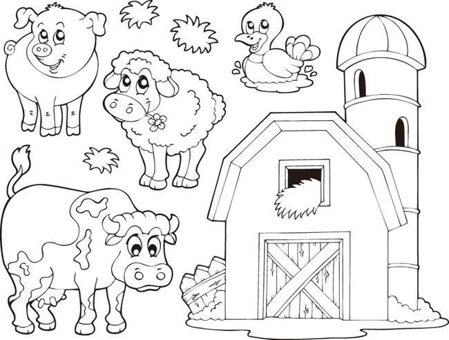 动物简笔画模板下载(图片编号:13369672)