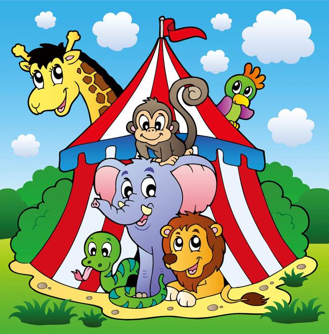 卡通小动物模板下载(图片编号:13369937)