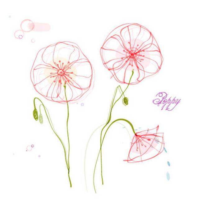 手绘背景 韩国花卉 手绘花 花纹设计 花朵 花束 创意花纹 花纹纹理