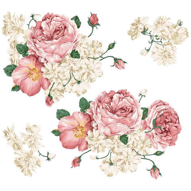 经典手绘花卉牡丹