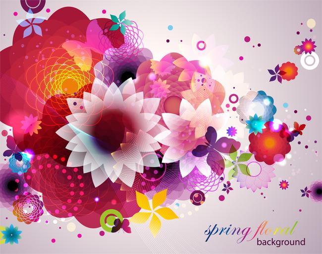 精美艳丽 插画 手绘 插画背景 韩国花卉 手绘花 花纹设计 花朵 花束