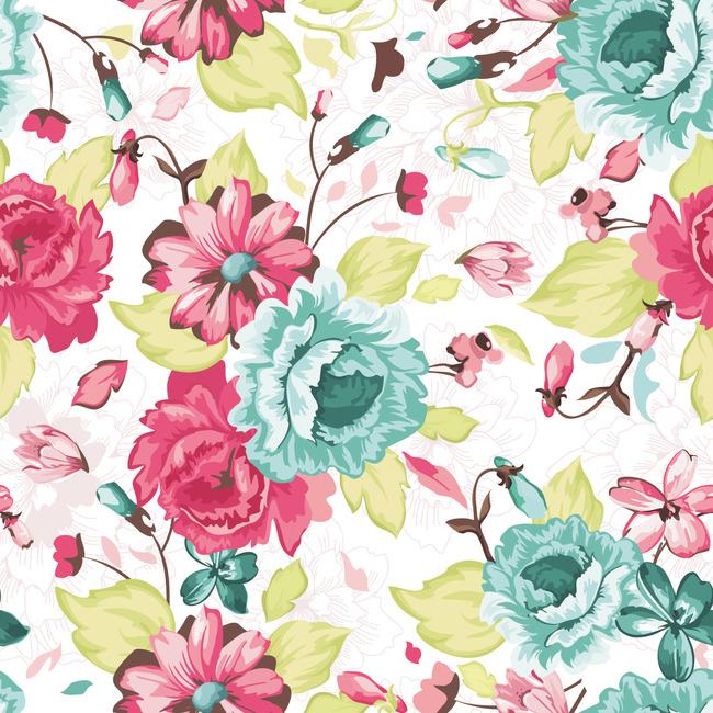 插画 手绘 插画背景 韩国花卉 手绘花 花纹设计 花朵 花束 创意花纹