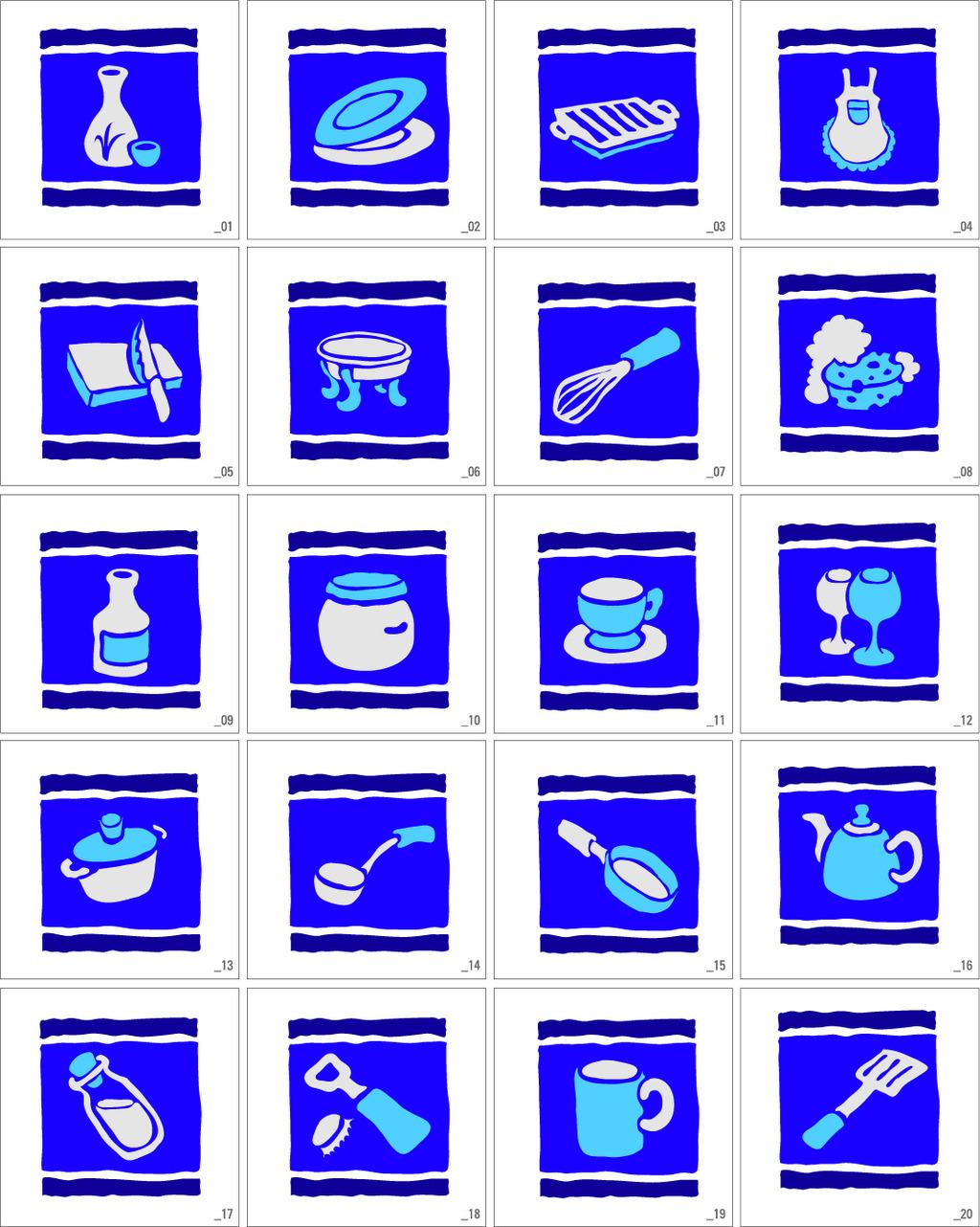 蓝色花朵卡通画矢量图_第8页_乐乐简笔画