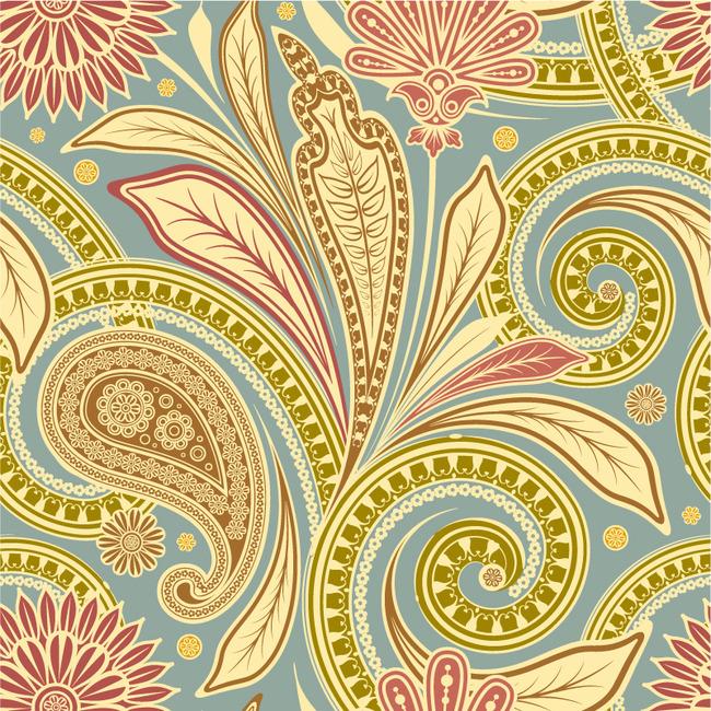 平面设计 花纹图案设计 花纹素材 > 手绘花纹唯美花卉量素材模板下载