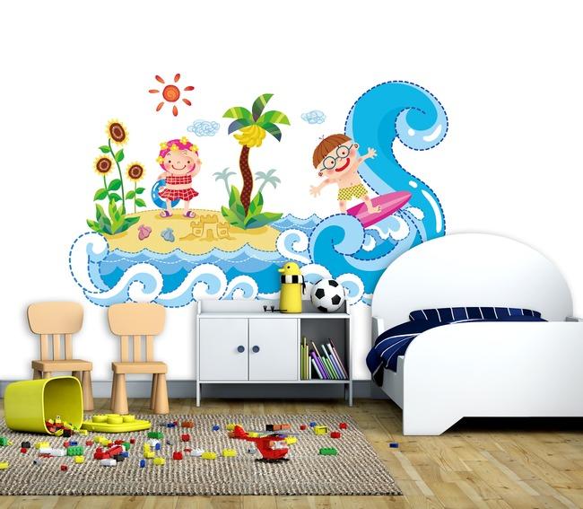 儿童房间装饰卡通背景墙