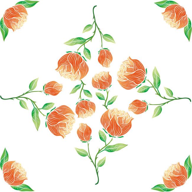 韩国花卉 手绘花 花纹设计 花朵 花束 创意花纹 花纹纹理 太阳花