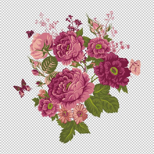 手绘花卉精美高清图