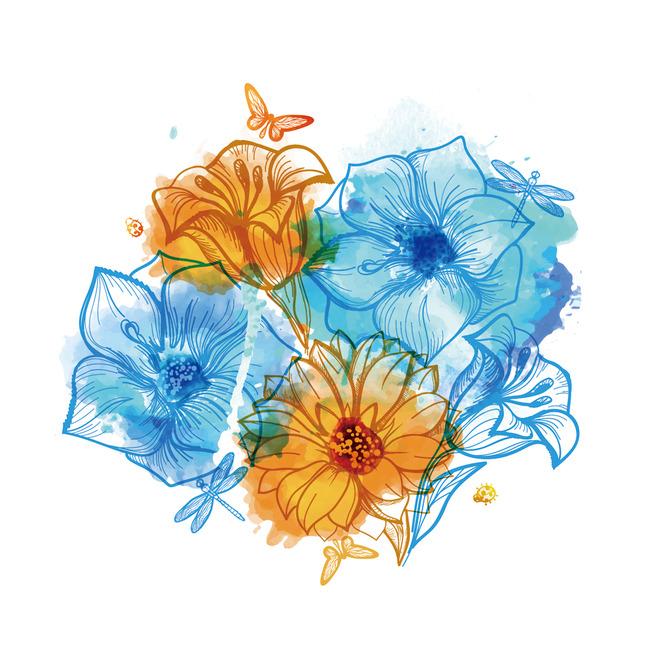 精美手绘花卉图案
