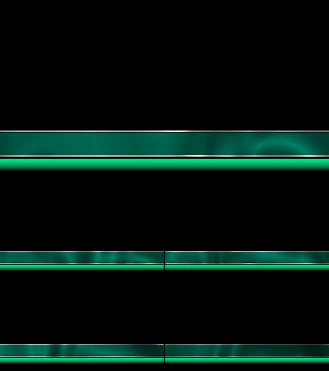 高清绿色带通道字幕条视频素材模板下载(图片