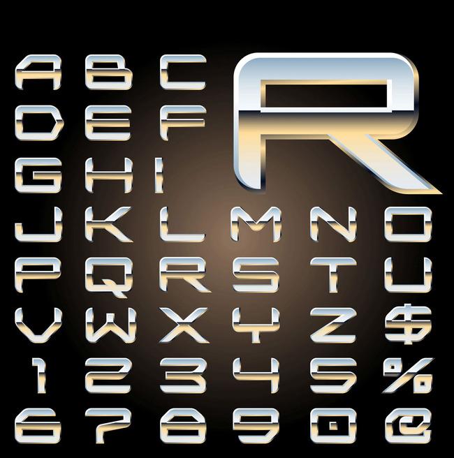 3d立体英文数字字体图片