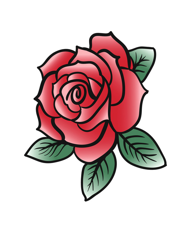 设计 底纹边框 花边花纹 eps 时尚纹身图案 时尚图案 热血图案 玫瑰